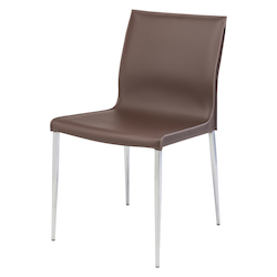 Nuevo Mink Leather Colter Dining Chair