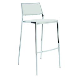 Nuevo White Stackable Aaron Bar Stool