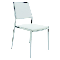 Nuevo White Stackable Aaron Dining Chair