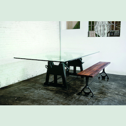 Glass Press Leg V3 Dining Table