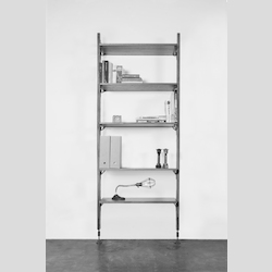 Nuevo Hard Fumed Oak Theo Shelving Unit