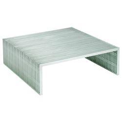 Nuevo Stainless Square Amici Coffee Table