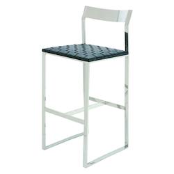 Nuevo Black Camille Counter Stool