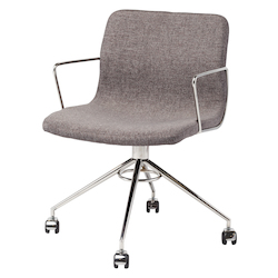 Nuevo Grey Arms Castors Alta Office Chair