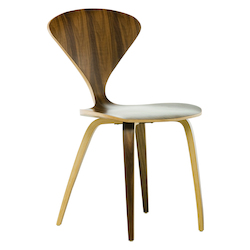 Nuevo Walnut Stackable Satine Dining Chair