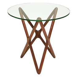 Nuevo Am Walnut Star Side Table