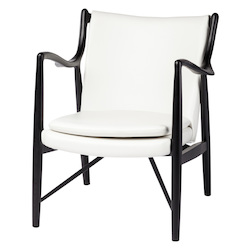 Nuevo White Chase Lounge Chair