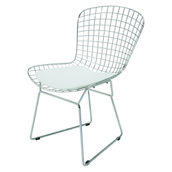 Nuevo White Cushion Wireback Dining Chair