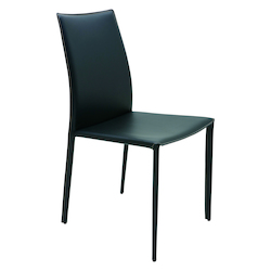 Nuevo Black Stainless Sienna Dining Chair
