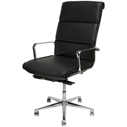 Nuevo Black High-Back Armchair Lucia Office Chair