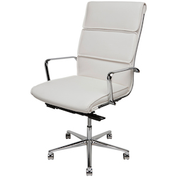 Nuevo White High-Back Armchair Lucia Office Chair
