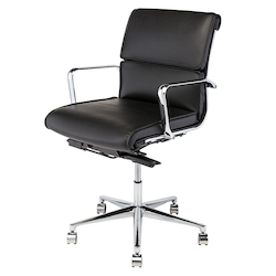 Nuevo Black Armchair Lucia Office Chair