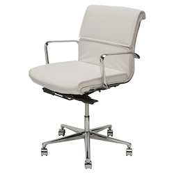 Nuevo White Armchair Lucia Office Chair
