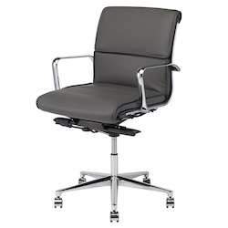 Nuevo Dark Grey Armchair Lucia Office Chair