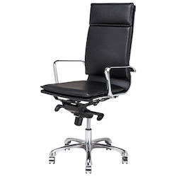 Nuevo Black High-Back Armchair Carlo Office Chair