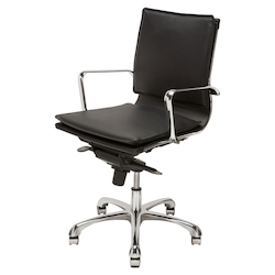 Nuevo Black Armchair Carlo Office Chair