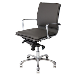 Nuevo Dark Grey Armchair Carlo Office Chair