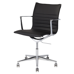Nuevo Black Naugahyde Antonio Office Chair