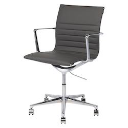 Nuevo Dark Grey Naugahyde Antonio Office Chair