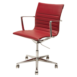 Nuevo Red Naugahyde Antonio Office Chair
