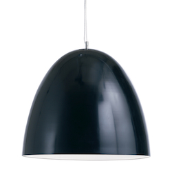 Nuevo Black Large Dome Pendant Lamp