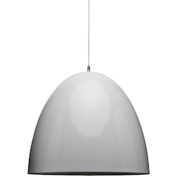Nuevo White Large Dome Pendant Lamp