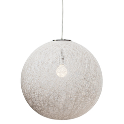 Nuevo White Single Bulb String 24 Pendant Lamp