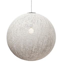 Nuevo White Single Bulb String 30 Pendant Lamp