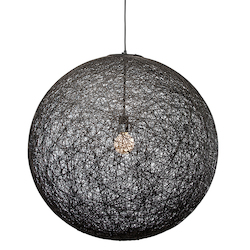 Nuevo Black Single Bulb String 30 Pendant Lamp