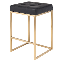Nuevo Black Chi Counter Stool