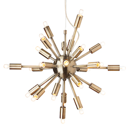Nuevo Antique Brass Sputnik Pendant Lamp