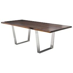 Nuevo Seared Oak Versailles Dining Table