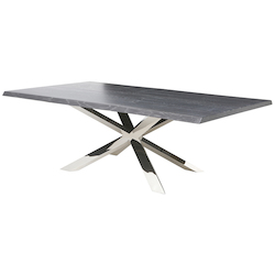 Nuevo Oxidized Grey Couture Dining Table