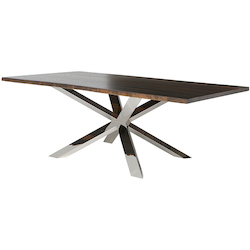 Nuevo Seared Oak Couture Dining Table
