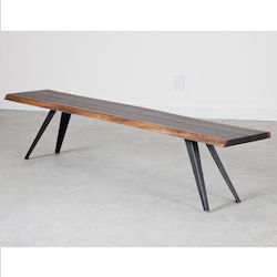 Nuevo Seared Oak Vega Bench