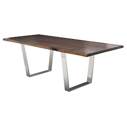 Nuevo Seared Oak Versaille Dining Table