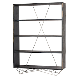 Nuevo Ebonized Oak Zola Shelving Unit