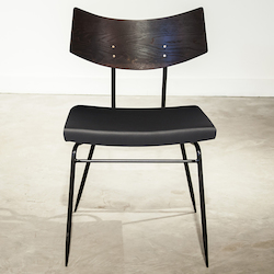 Nuevo Seared|Black Soli Dining Chair