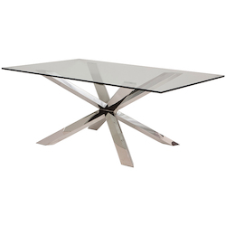 Nuevo Clear Couture Dining Table