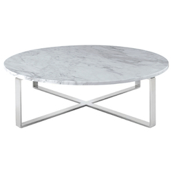 Nuevo Brown-White Marble Rosa Coffee Table