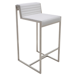 Nuevo White Zola Counter Stool