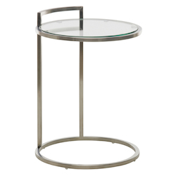 Nuevo Stainless Round Lily Side Table
