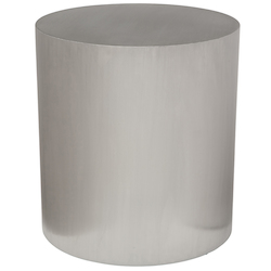 Nuevo Stainless Round Piston Side Table