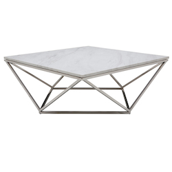 Nuevo White Marble Jasmine Coffee Table