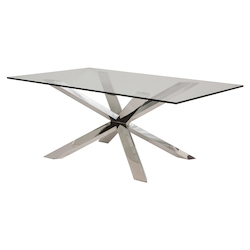 Nuevo Clear Glass Couture Dining Table