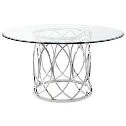Nuevo High Polish Juliette Dining Table