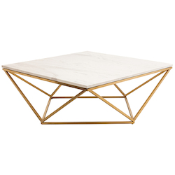 Nuevo White Gold Jasmine Coffee Table