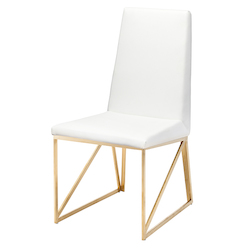 Nuevo White Caprice Dining Chair