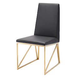 Nuevo Black Caprice Dining Chair