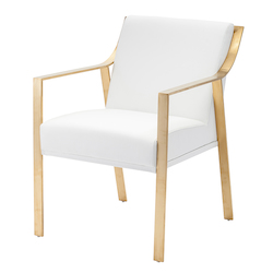 Nuevo White Gold Valentine Dining Chair